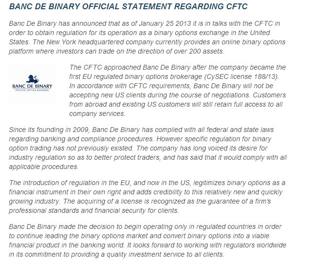 Regulated binary options brokers in us